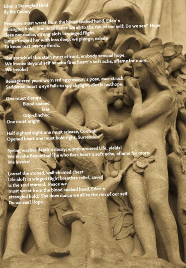 Eden's Strangled Hold Poem and Picture